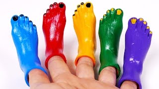 Toes Feet Colors for Children Learn Colors with Songs for Kids and Nursery Rhymes