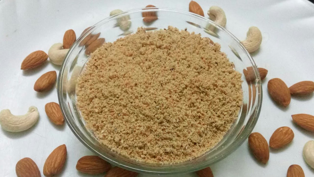 How to make Dry fruits powder for 6+ months babies | Weight gain ...