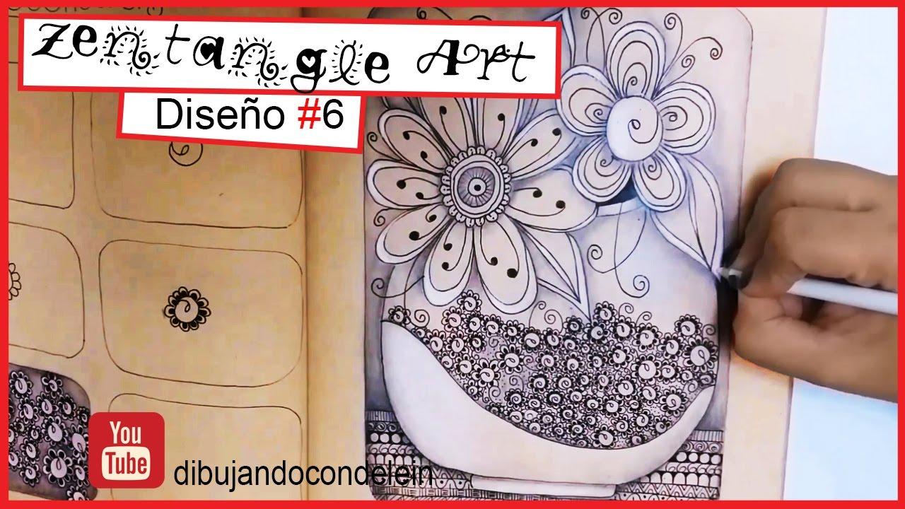 Como Dibujar Zentangle Art Paso A Paso Diseno 6 Zentangle Pattern
