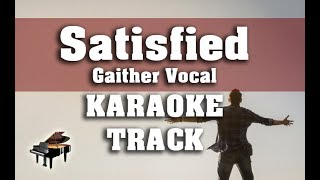 Satisfied (Hallelujah) Gaither - Karaoke Track