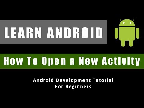 How to open a new Activity in Android - Android Development Tutorial For Beginners thumbnail