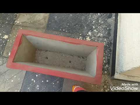 DIY barbeque grill / how to make barbeque griller from a cement flowerpot/cheapest barbeque griller.