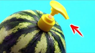 Top 100 SIMPLE LIFE HACKS WITH WATERMELON!