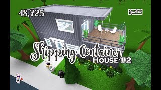 ROBLOX │Bloxburg - [SpeedBuild] Shipping Container House #2