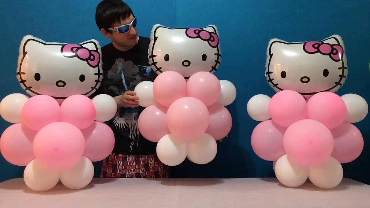 Easy Hello Kitty Balloon Decorations Youtube