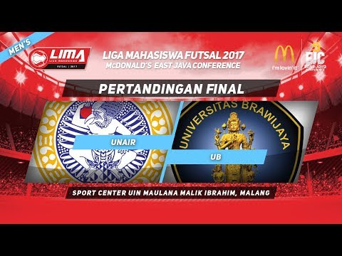 UNAIR vs UB di FINAL LIMA Futsal McDonald's East Java Conference 2017 (Men's)