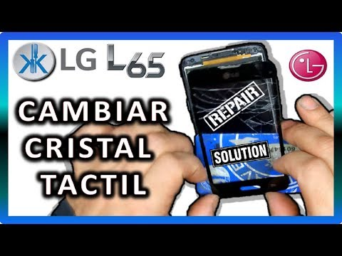 👍✔ LG L65 (D280N) COMO CAMBIAR CRISTAL PANTALLA TACTIL . touch screen replacement