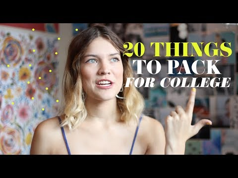 20 THINGS TO BRING TO COLLEGE VIDEO