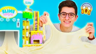 Trying my DIY Slime Factory! 😱 - Fluffy Slime, Butter Slime & Clear Slime