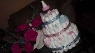 How to make a diaper cake with special help