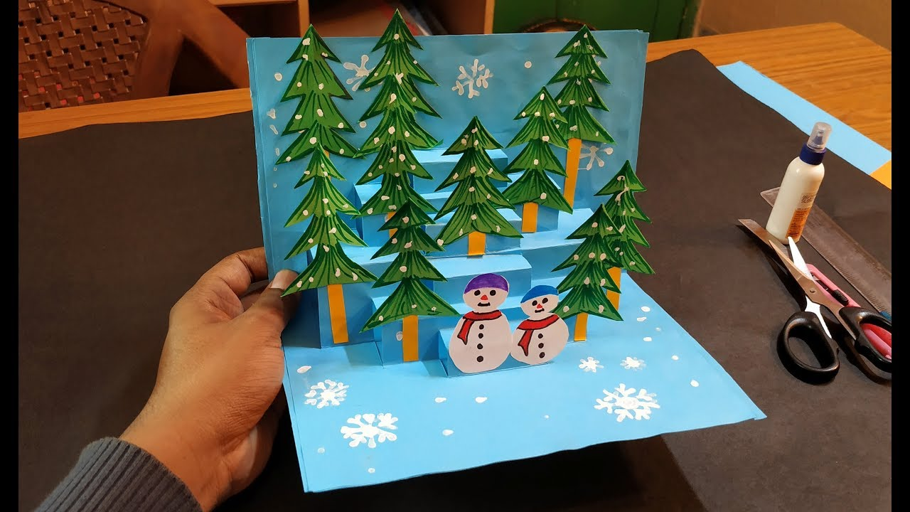 3D Christmas Pop Up Card