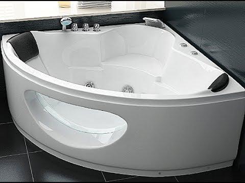 Gut Whirlpool Badewanne Toskana Eckwanne mit 10 Massage Düsen LED  UF33
