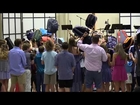 Blessing of the Backpacks at St Mary's Episcopal Church 8/12/18