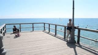 Паралия Катерини вид площади и пляжа с причала(, 2015-02-01T14:46:02.000Z)