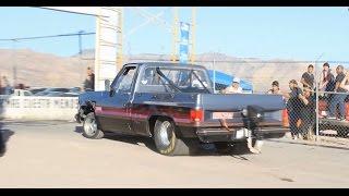 1200 hp pick up truck vs camaro iroc z    autodromo francisco villa 2016