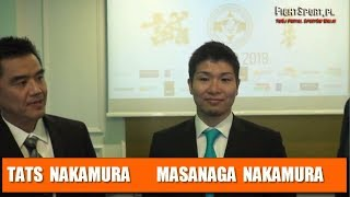 Masanaga Nakamura i Tats Nakamura na konferencji prasowej IKO NAKAMURA POLAND