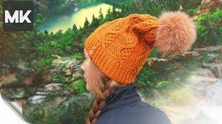 ШАПОЧКА БИНИ НА ОСЕНЬ / Мастер-класс по вязанию женской шапки спицами