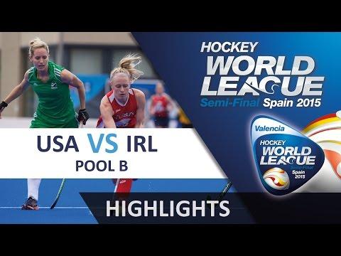 USA v Ireland Match Highlights - Valencia Womens HWL (2015)