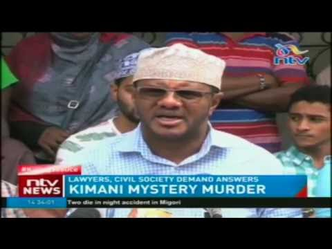 Lawyers, civil society demand answers on Kimani mystery murder
