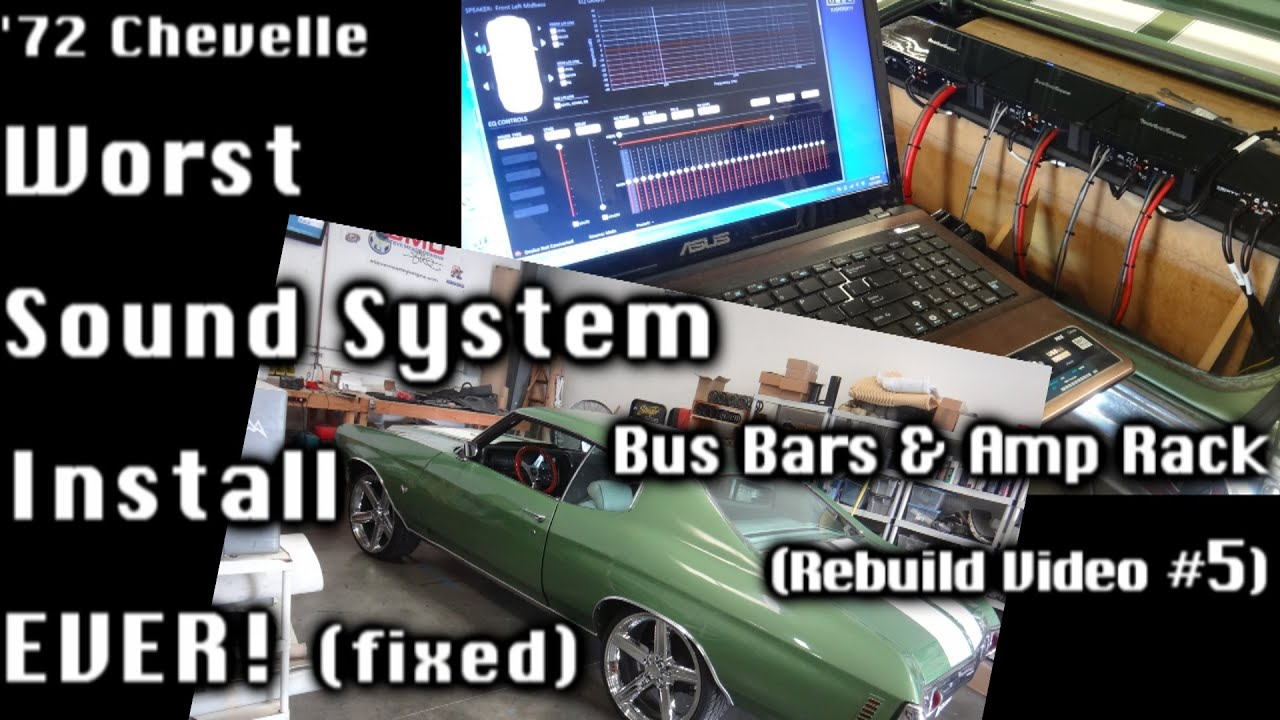 72 chevelle worst sound system re do buss bars wiring amp 72 chevelle worst sound system re do buss bars wiring amp rack owner reaction vid 5