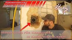Wandfutter für Ofenrohr in Kamin einbauen - Kamin anschließen