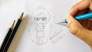 Como desenhar Bonequinha Nerd Tumblr| 2 parte