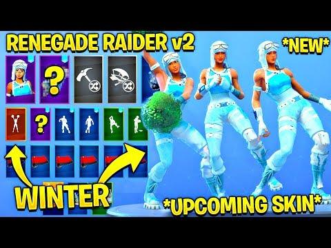*NEW* Frozen Renegade Raider Showcase With All Leaked Fortnite Dances..! (Cheer Up, Knee Slapper)