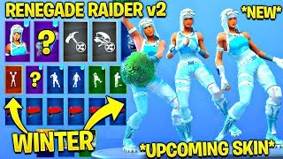 *NEW* Frozen Renegade Raider Showcase With All Leaked Fortnite Dances..! (Cheer Up, Knee Slapper)