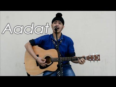 Aadat (Punjabi Unplugged)|| Ninja | Acoustic Singh Cover