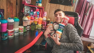 MY FRIEND TRIES ALL THE G-FUEL FLAVORS FOR THE FIRST TIME AND RANKS THEM BEST TO WORST!