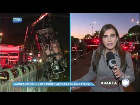 Mulher morre após carro capotar no rio Tamanduateí (SP)