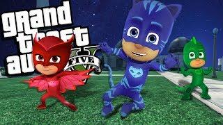 "GTA 5 Mods - PJ Masks ""CATBOY"" Mod!!! Catboy hears crime and proble..."