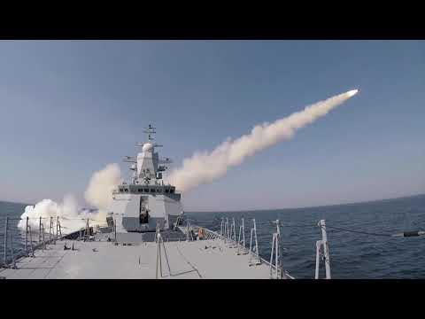 Учебно-боевые пуски противокорабельных ракет «Уран» корветом «Стойкий»