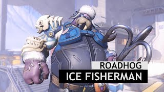 Overwatch: Ice Fisherman Roadhog Legendary Skin In-Game [Winter Wonderland 2017]