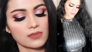 NEW YEAR PARTY /CHRISTMAS Makeup Get Ready With Me 2018| Glittery Pink Smokey Eyes