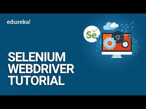 Selenium WebDriver Tutorial | Selenium Tutorial For Beginner | Selenium  WebDriver Training | Edureka