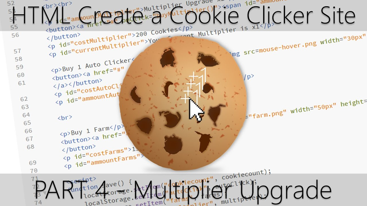 HTML Create a Cookie Clicker Site - Part 4 Multiplier Upgrade
