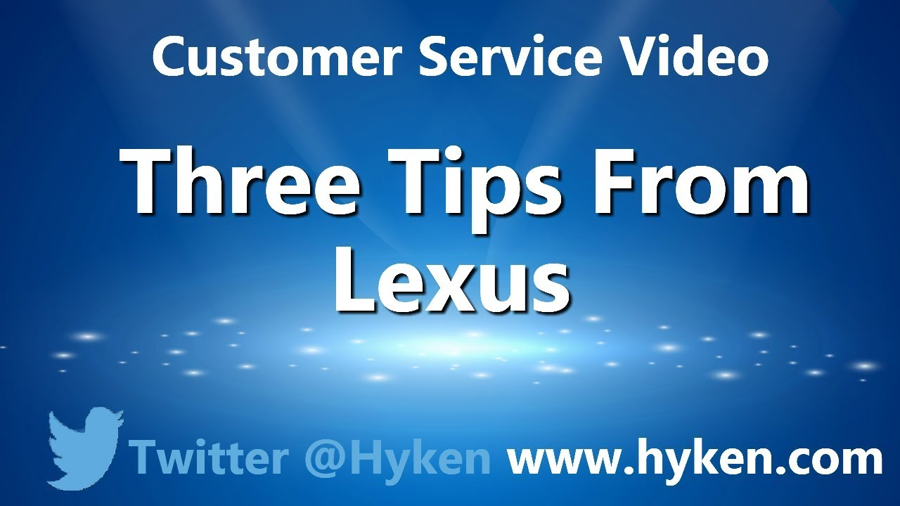 Three Customer Service Lessons From Lexus