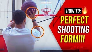 How to: Shoot a basketball PERFECTLY! Basketball Shooting Technique and Drills