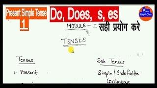 how to use Do,Does,s,es Present Simple tense/दू डस का सही युस सीखे /aashi english class