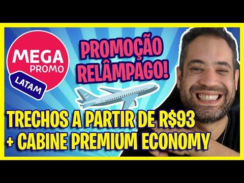 SÓ R$93! LATAM LANÇA PROMOÇÃO COM TRECHOS A PARTIR DE R$93 + CABINE PREMIUM ECONOMY