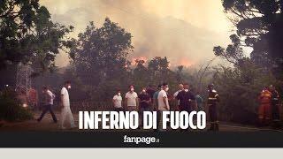 La provincia di Palermo in fiamme. Strade chiuse e case evacuate thumbnail