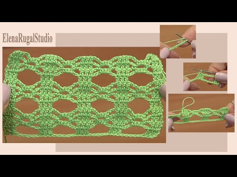 How to Crochet Lace Stitch Pattern Tutorial 1