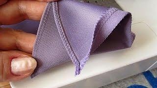 Как сделать узкую подгибку  края изделия?  Обработка  горловины и пройм