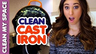 How to Clean a Cast Iron Skillet! (Clean My Space)