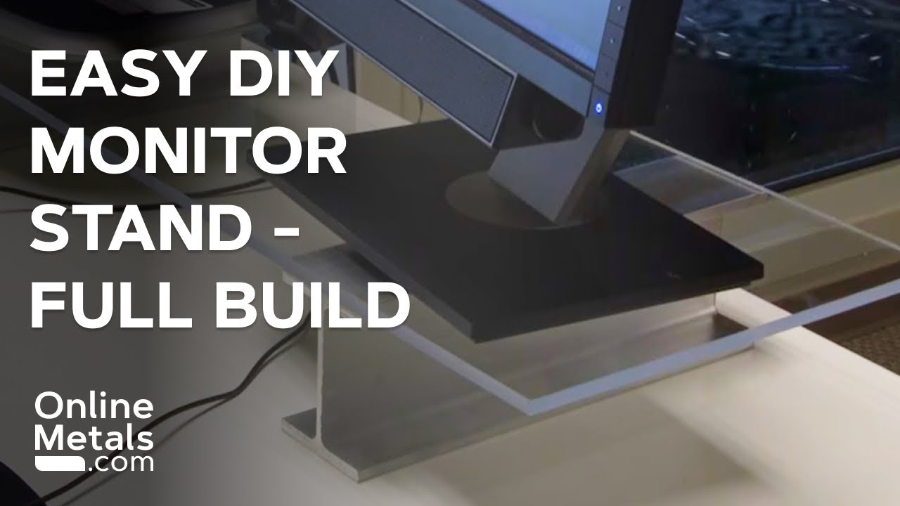 Diy How To Build A Monitor Stand