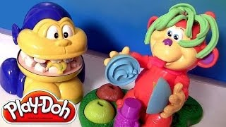 Play Doh Monkey Dentist & Coco Nutty Monkey Playdoh Playset Macaquinho Maluco By Disneycollector