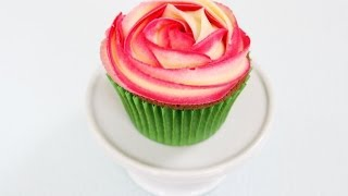 How to Pipe a Two Tone Buttercream Rose
