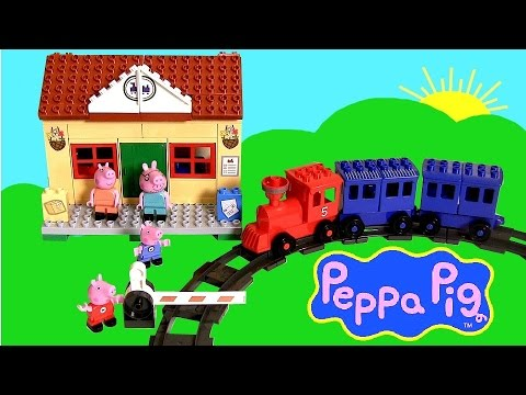 Peppa Pig Blocks Mega Train Station Blocks – Estación de Trenes Juguete de Construcciones Bloques