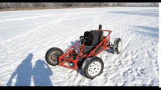 (краткий)Обзор самодельного багги! + зимние кадры